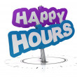 Happy hours sign — 图库照片