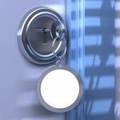 Immobilier communication en bleu — Photo