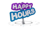 Happy hours sign — Stock Photo