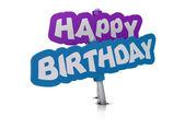 Všechno nejlepší k narozeninám tag — Stock fotografie