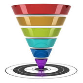 Conversion funnel — Stock Photo