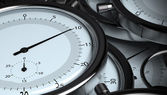 Time - many stopwatches — Stockfoto