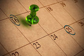Recycled calendar — Stock Photo