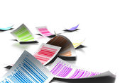 Multicolored bar codes — Stock Photo