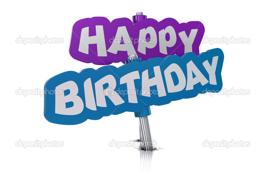 Happy birthday tag, white background — Stock Photo #6900244