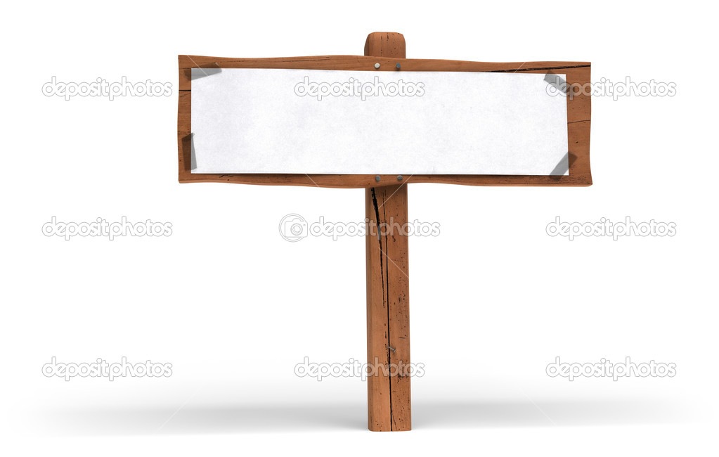 Wood Panel Sign ~ Green sign eco wood post wooden panel — stock photo
