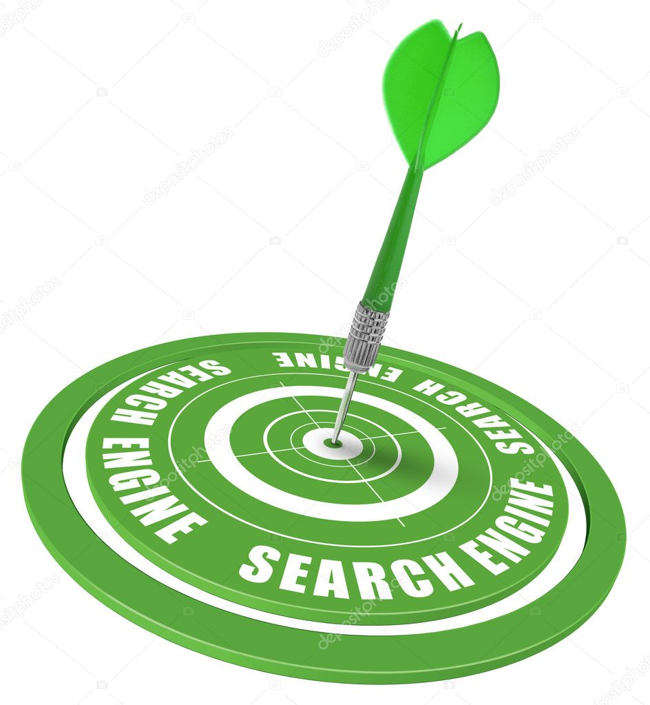 Target and dart symbol of a keyword search in a search engine  Stock Photo #7254538