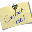 Contact me memo note — Stock Photo