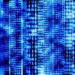 Stock Photo: Abstract binary code, blue digital screen