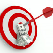 Success in Business, Dollar and Dart - Stock Photo