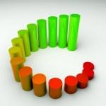 runt business diagram 3d, resultat — Stockfoto