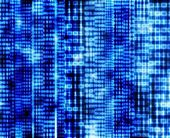 Abstract binary code, blue digital screen — Stock Photo