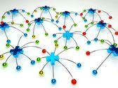 Plus sociala nätverksanslutning — Stockfoto
