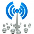Stock Photo: Wifi hot spot icon, internet concept
