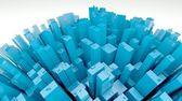 3d futuristic city, planet view — Stock Photo