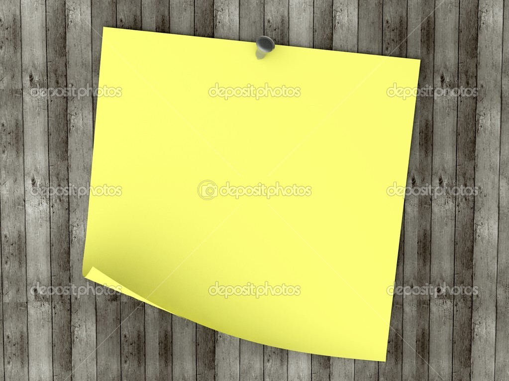 3d Empty note on old wood background — Stock Photo #6969252