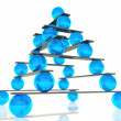 Stock Photo: 3d ball balance and hierarchy concept