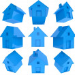 3d house icon — Stock Photo
