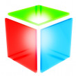 Stock Photo: 3d rgb square icon