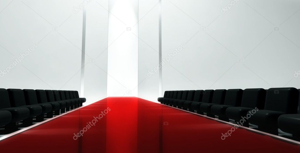 3d Empty fashion runway — Stock Photo #7700998