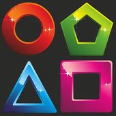 Geometric shapes. — Stock Vector