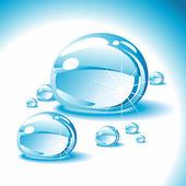 Drops of water. — Stock Vector