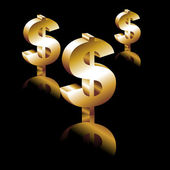 Golden Dollar. — Stock Vector