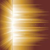 Golden glow. Rays. — Stock Vector