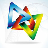 Colorful 3D triangles. — Stock Vector