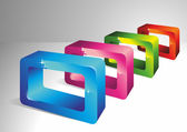 3D rectangles. — Stock Vector