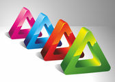 3D triangles. — Stock Vector