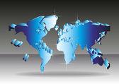The world map. A vector. — Stock Vector