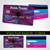 Bank card customer. Vector. — Cтоковый вектор