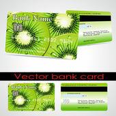 Bank card customer. Vector. — Stock Vector