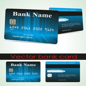 Bank card customer. Vector. — Vector de stock
