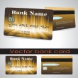 Bank card customer. Vector. — Stock Vector