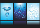 Vector Banners with water and bubbles — Stock Vector