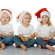 Christmas kids in Santa hat — Stock Photo #7579729