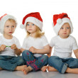 Christmas kids in Santa hat — Stock Photo #7579750