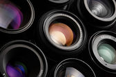 Colorful camera lenses — Stock Photo