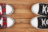 Two pairs of sneakers — Stock Photo