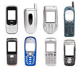 Mobile phones set — Stock fotografie