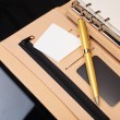 Business diary and pen — Stock Photo