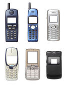 Mobile phones set — Stock Photo