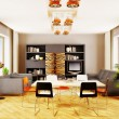 Modern interior room with nice furniture inside. — Foto de Stock