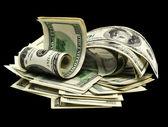Many dollars on a white background isolated. — Stock Photo