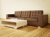 里面好家具与现代室内空间. — 图库照片