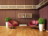 Moderne interieur kamer met mooi meubilair binnen. — Stockfoto