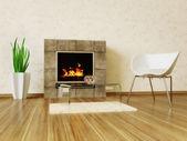 Inre rum med fina möbler inne. — Stockfoto