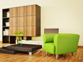 Modern interior room with nice furniture inside. — Stock Photo